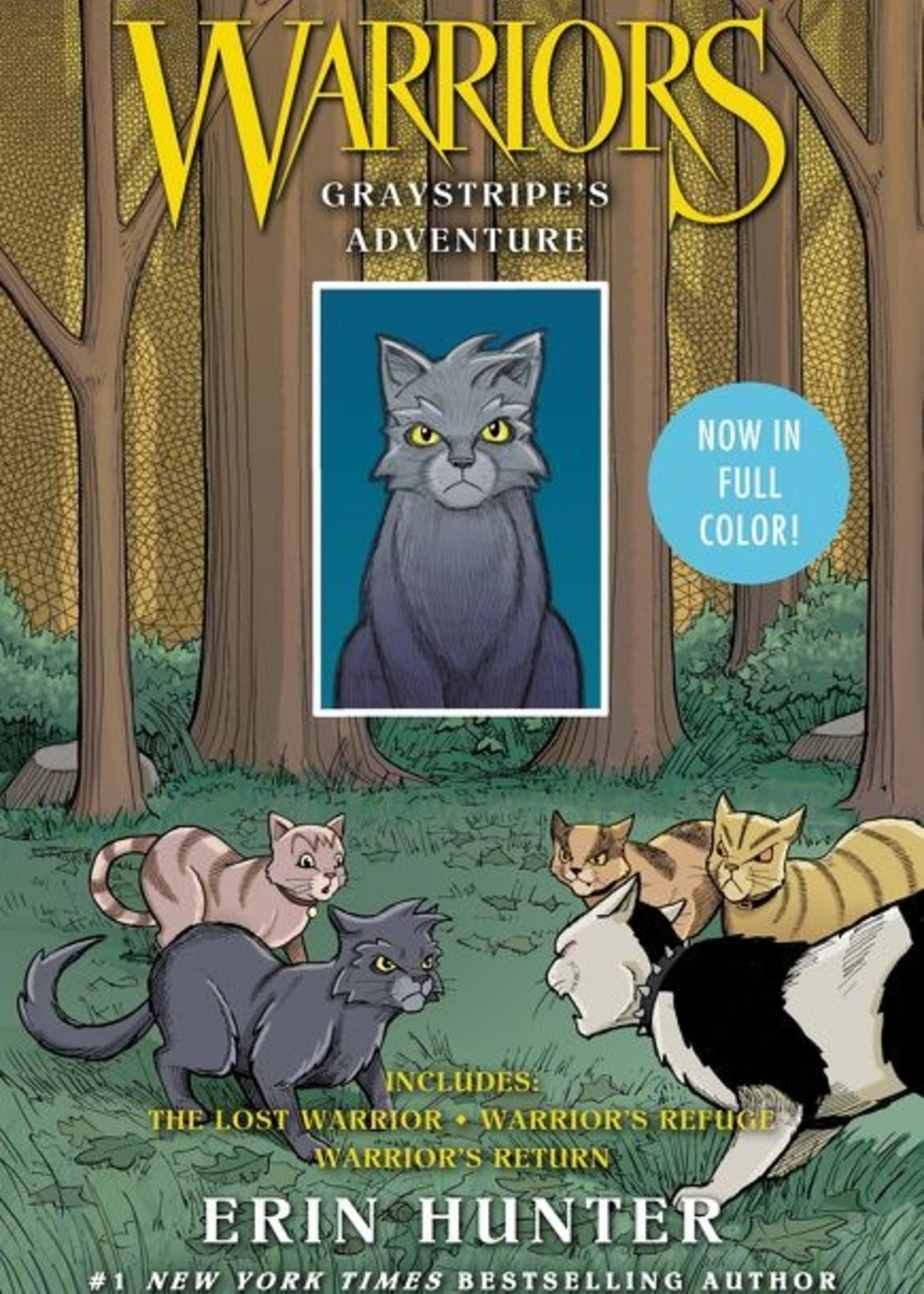 Warriors, Graystripe's Adventure Graphic Novel, The Lost Warrior, Warrior's Refuge, Warrior's Return, 3 Books in One - Paperback