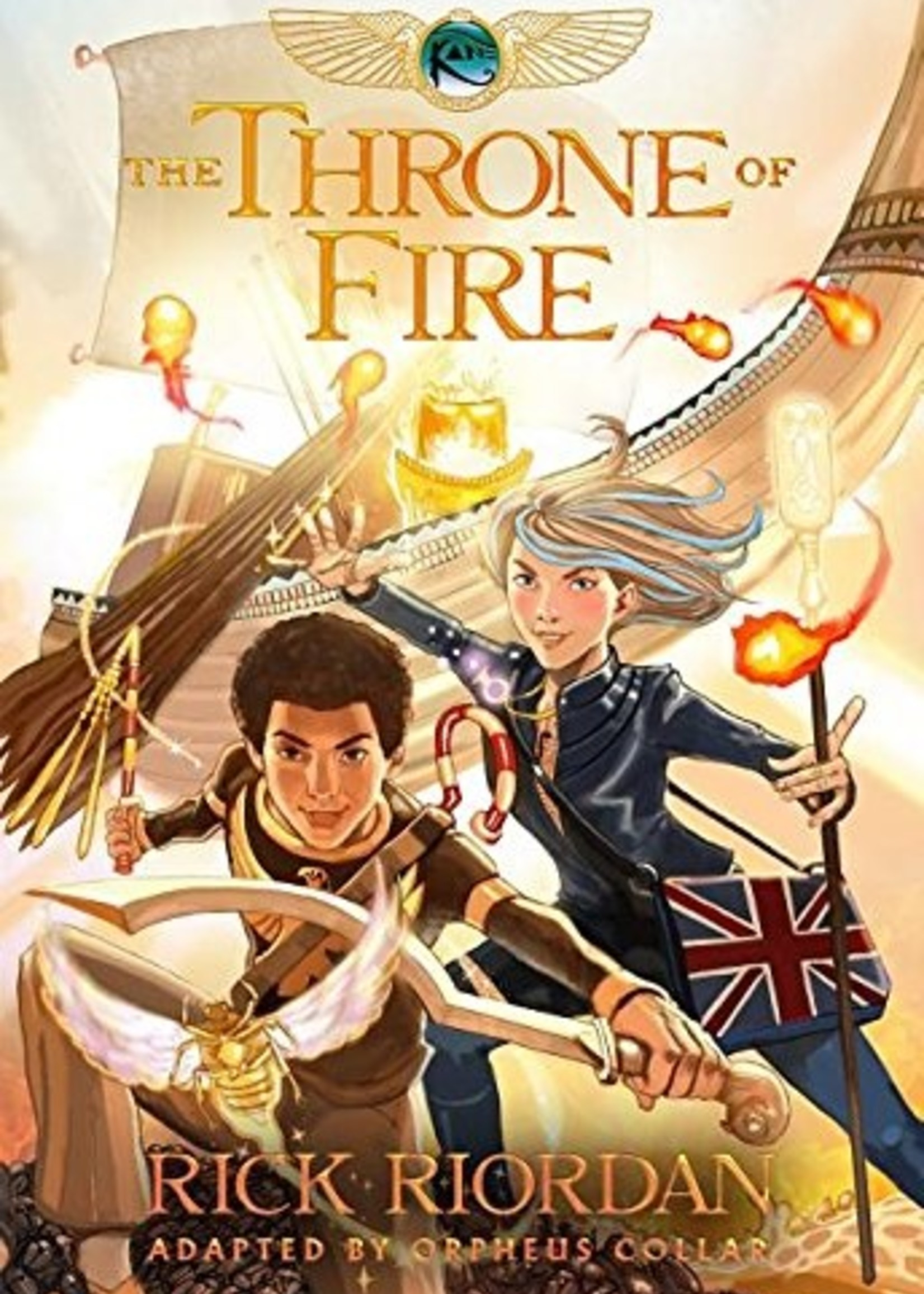 The Kane Chronicles #02, The Throne of Fire Graphic Novel - Paperback
