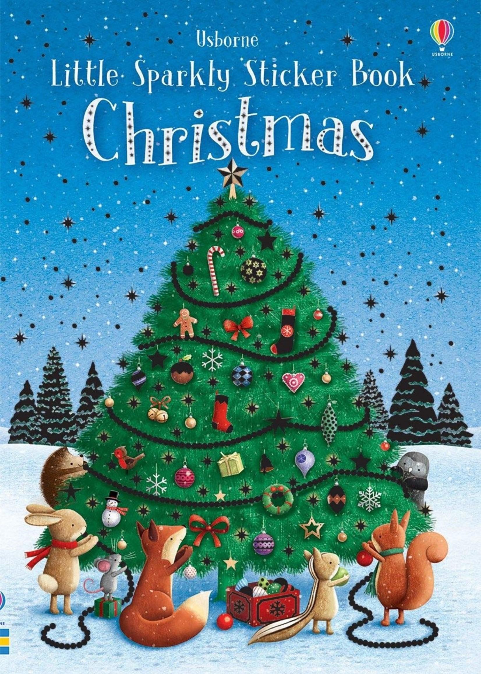 Usborne Little Sparkly Sticker Book, Christmas - Paperback