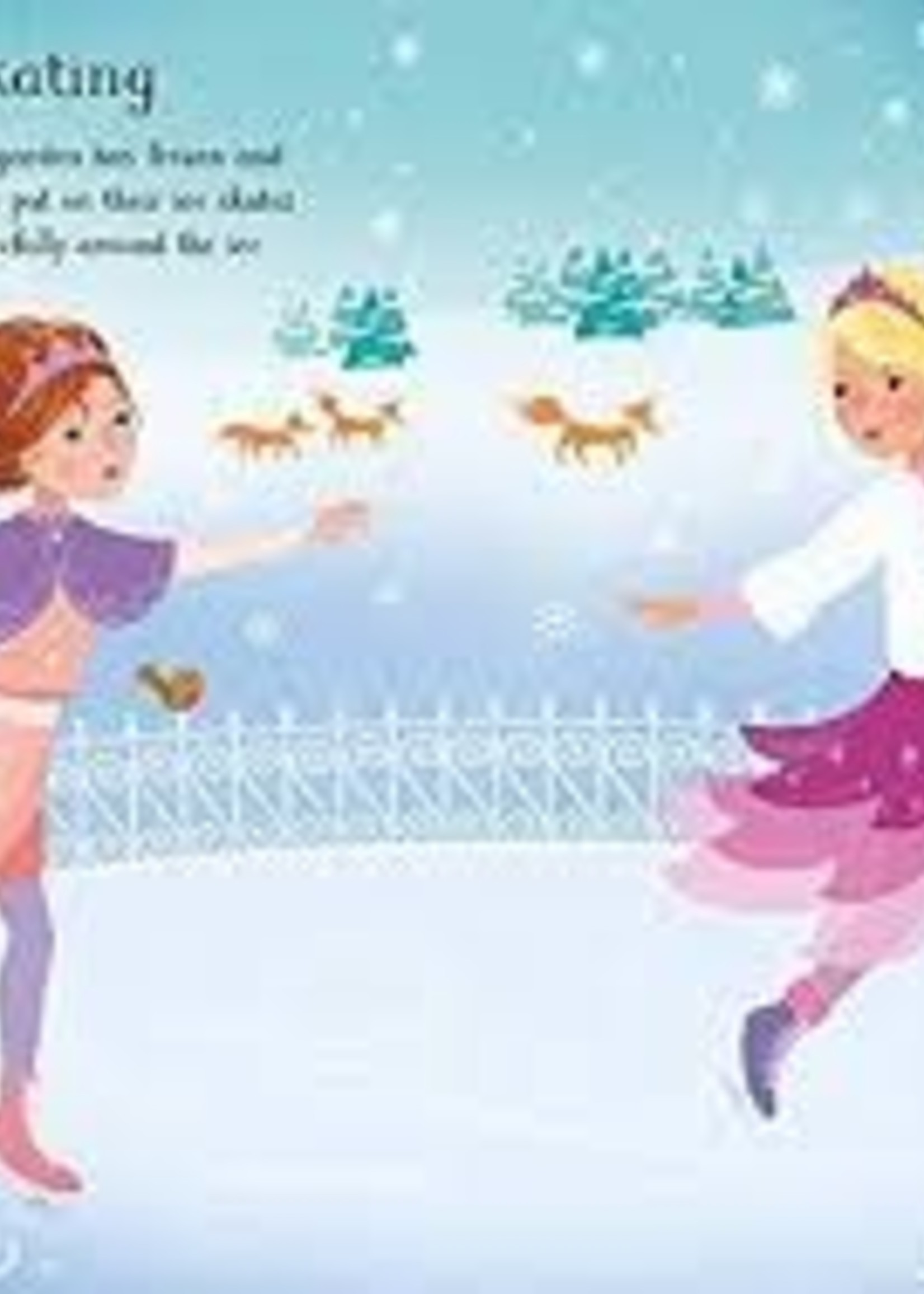 Usborne Little Sticker Dolly Dressing, Snow Princesses - Paperback