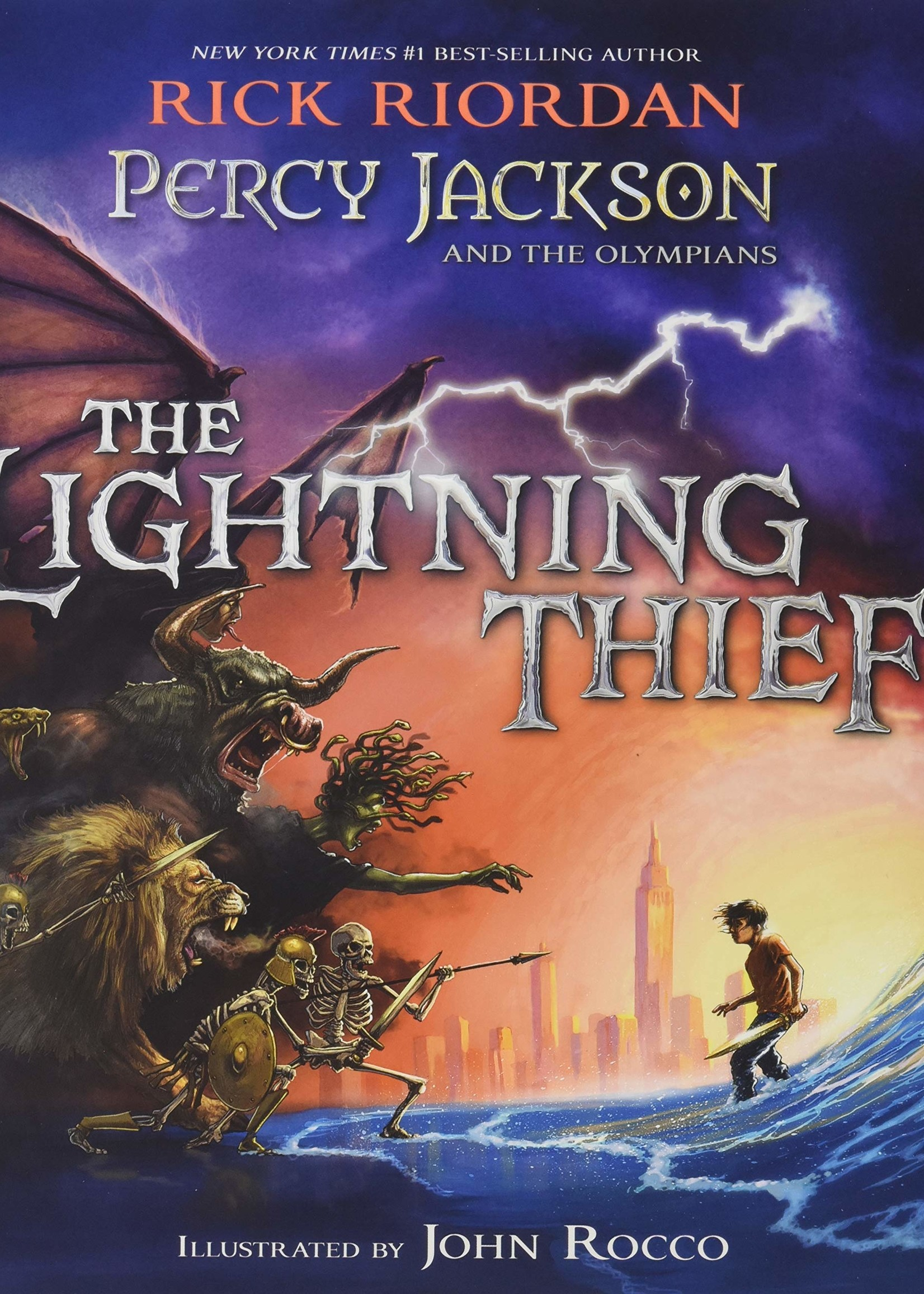Percy Jackson and the Olympians #01, The Lightning Thief, Illustrated Edition - Hardcover