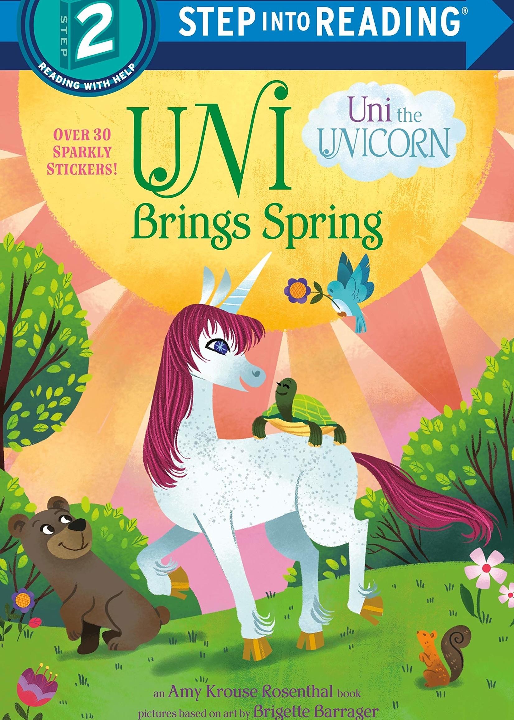 Uni the Unicorn, Uni Brings Spring - Level 2 Reader