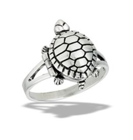 Turtle Capsule Ring, Opens - Size 8