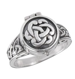 Celtic Capsule Ring, Opens - Size 10