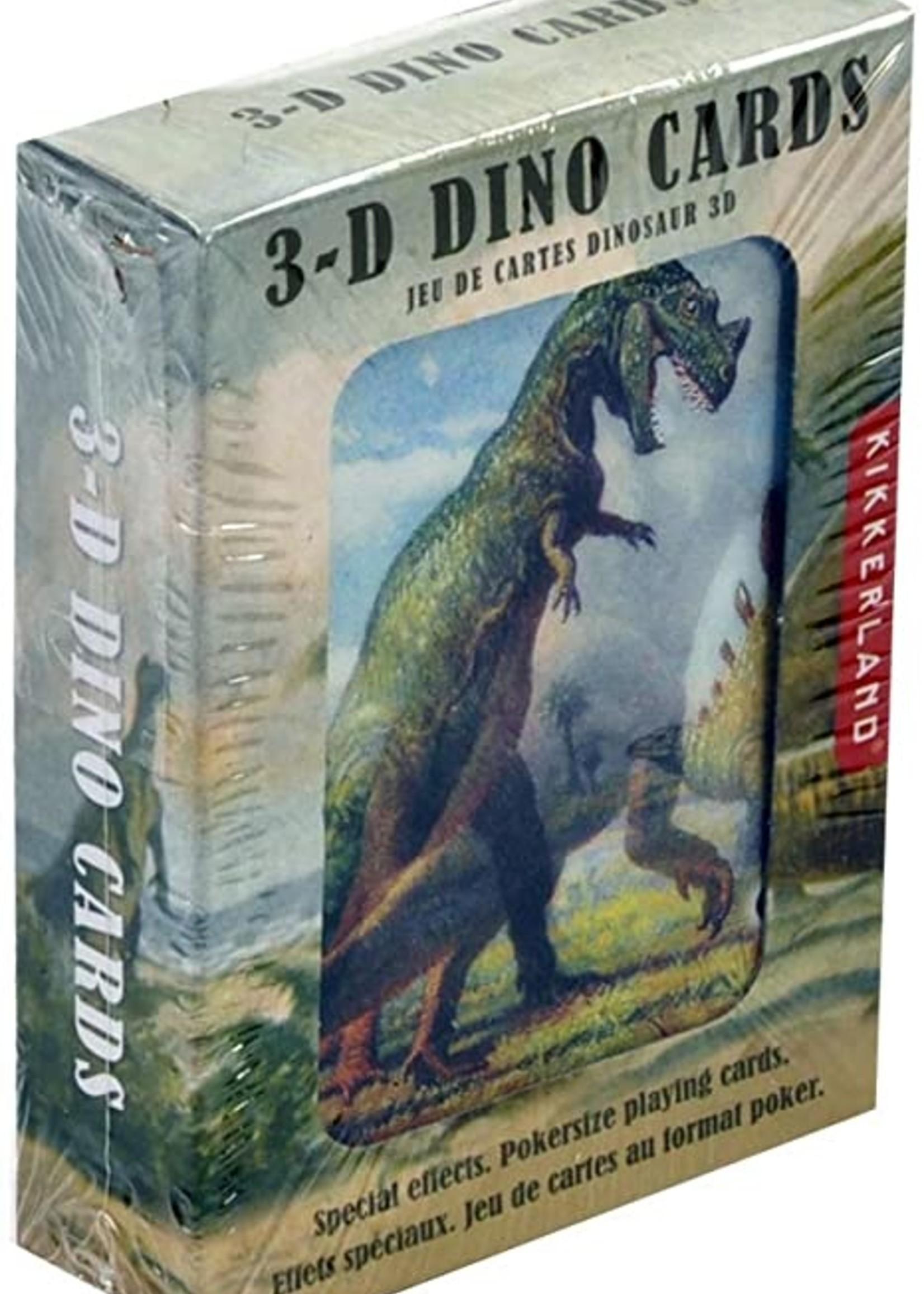 3D Dinosaur Playing Cards - Box