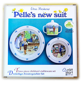 Elsa Beskow Tableware Set, Peter in Blueberry Land, 3pc