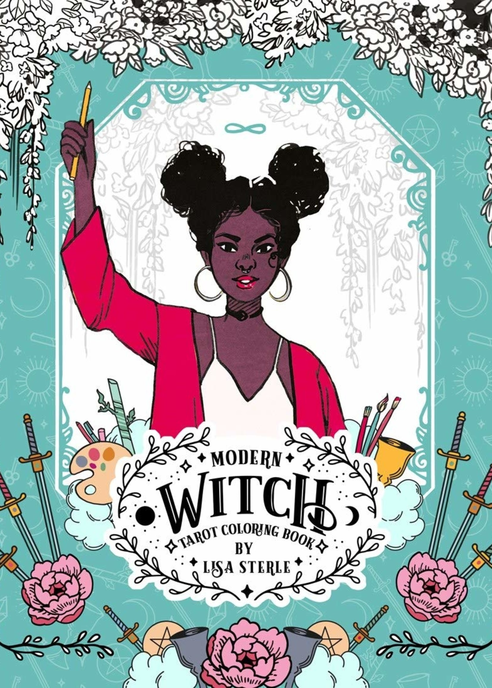 Modern Witch Tarot Coloring Book - Paperback