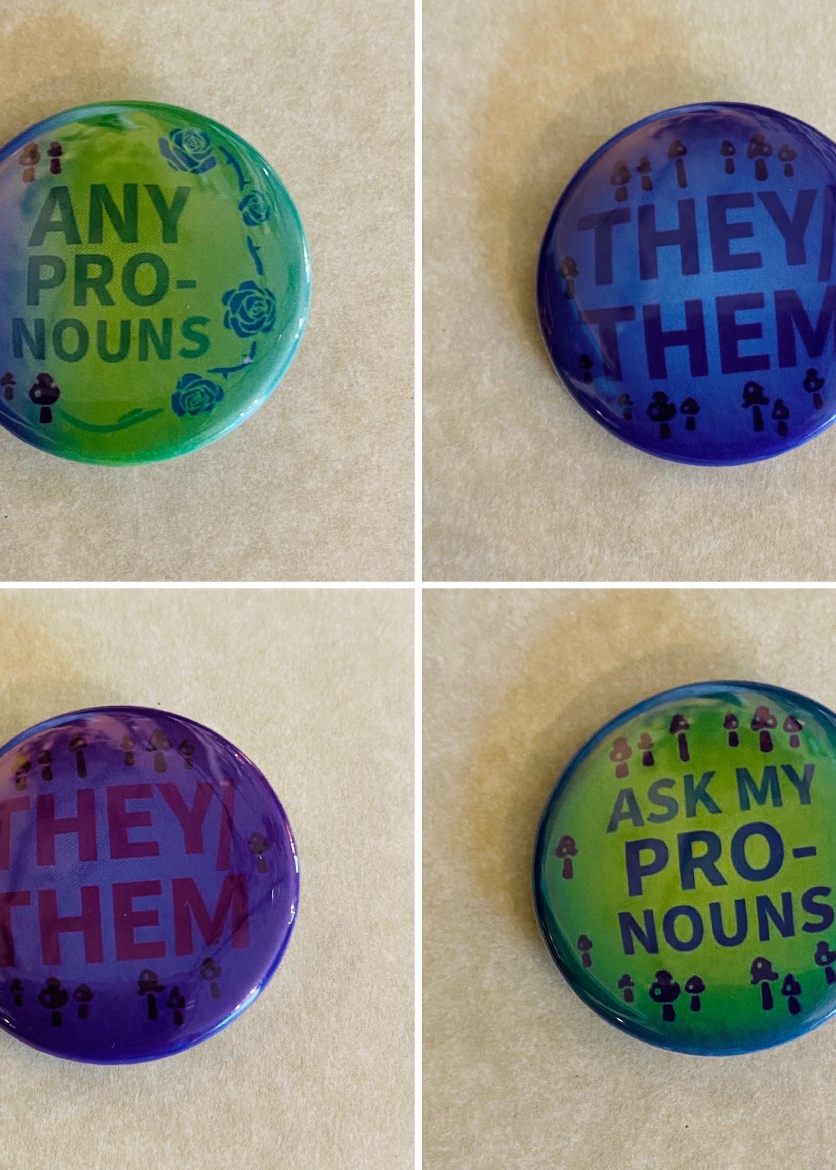 Fairy Pronoun Buttons