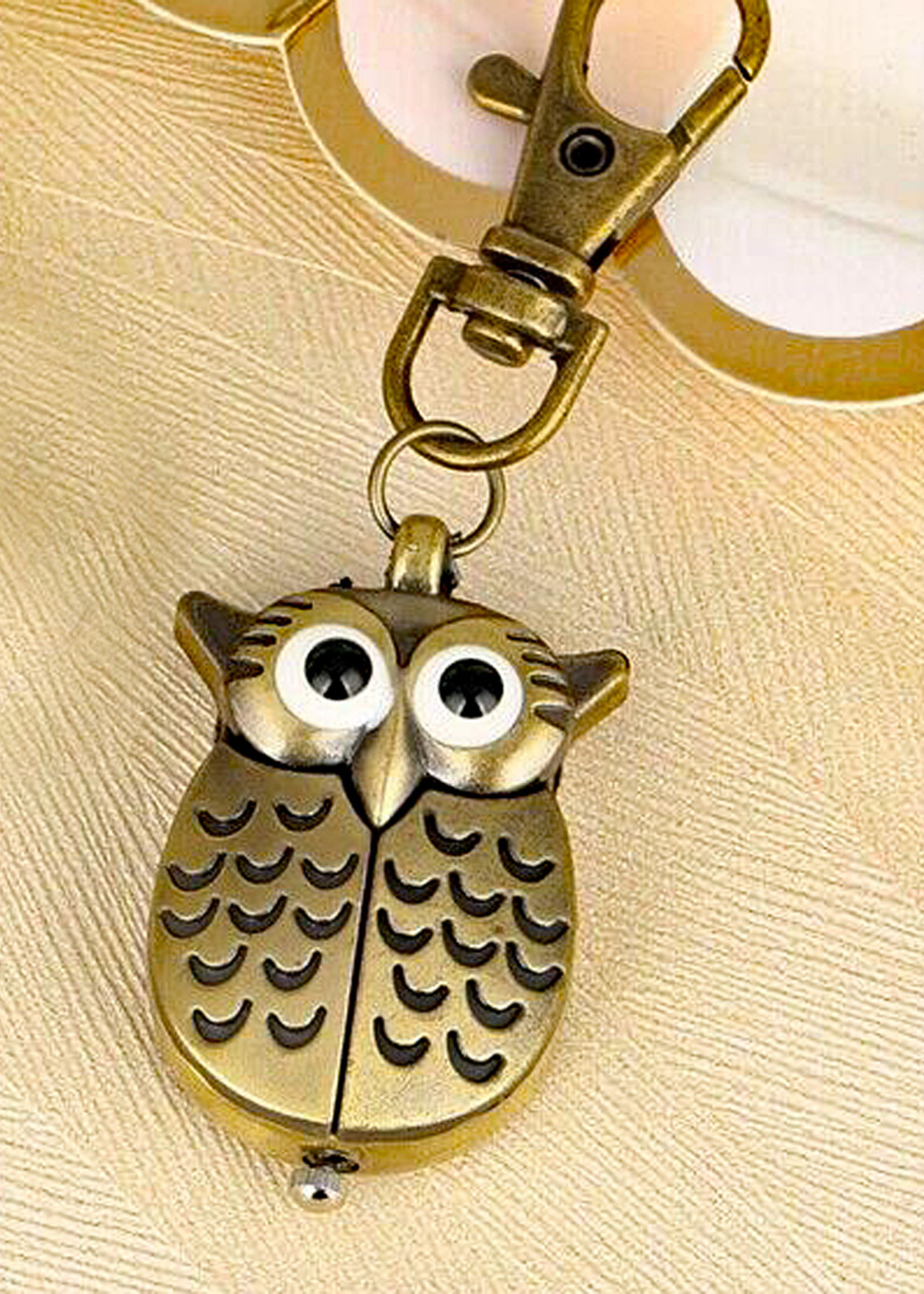Modern Owl Antique Bronze Pocket Watch Clip