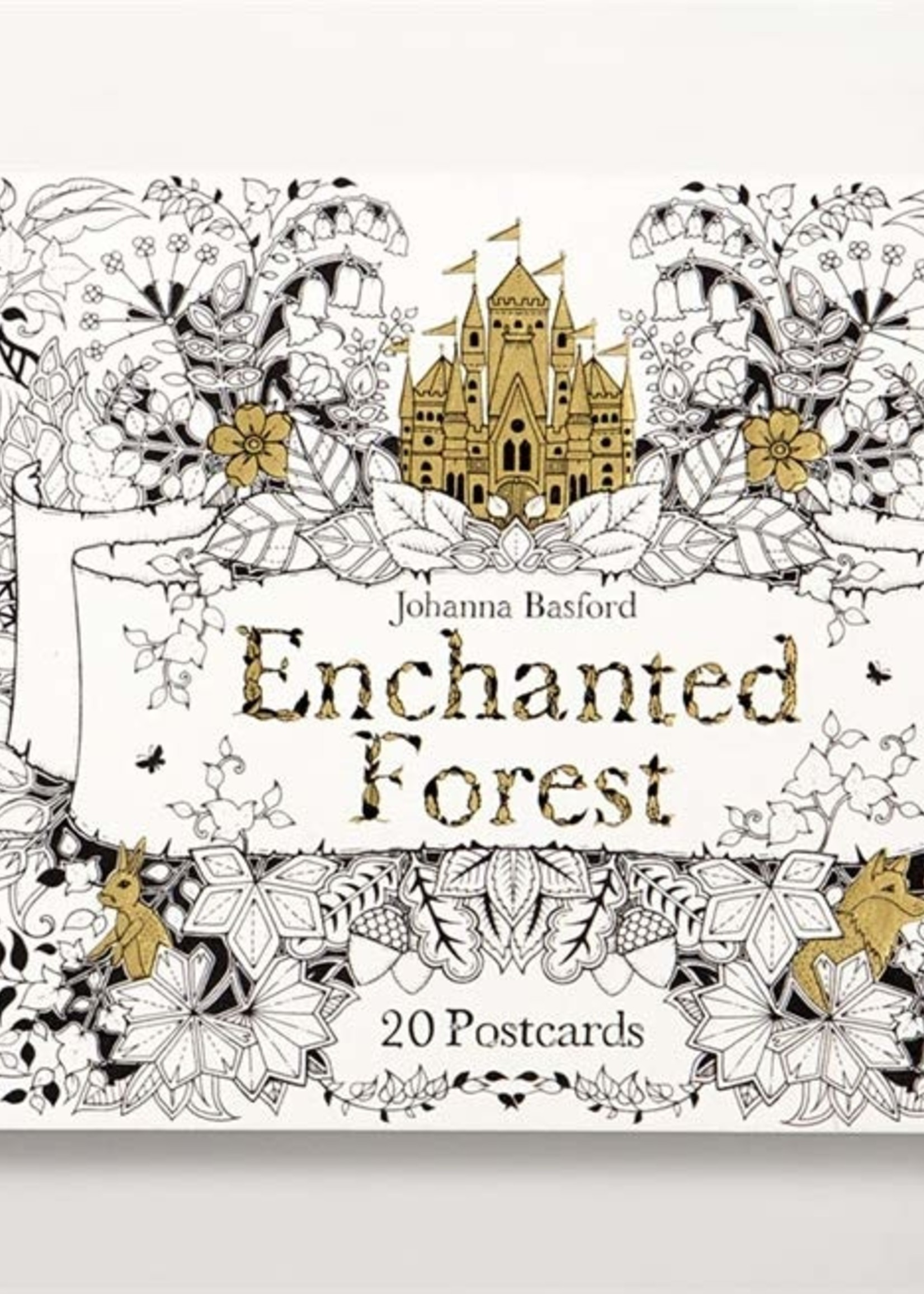 Enchanted Forest Coloring Postcards - Paperback