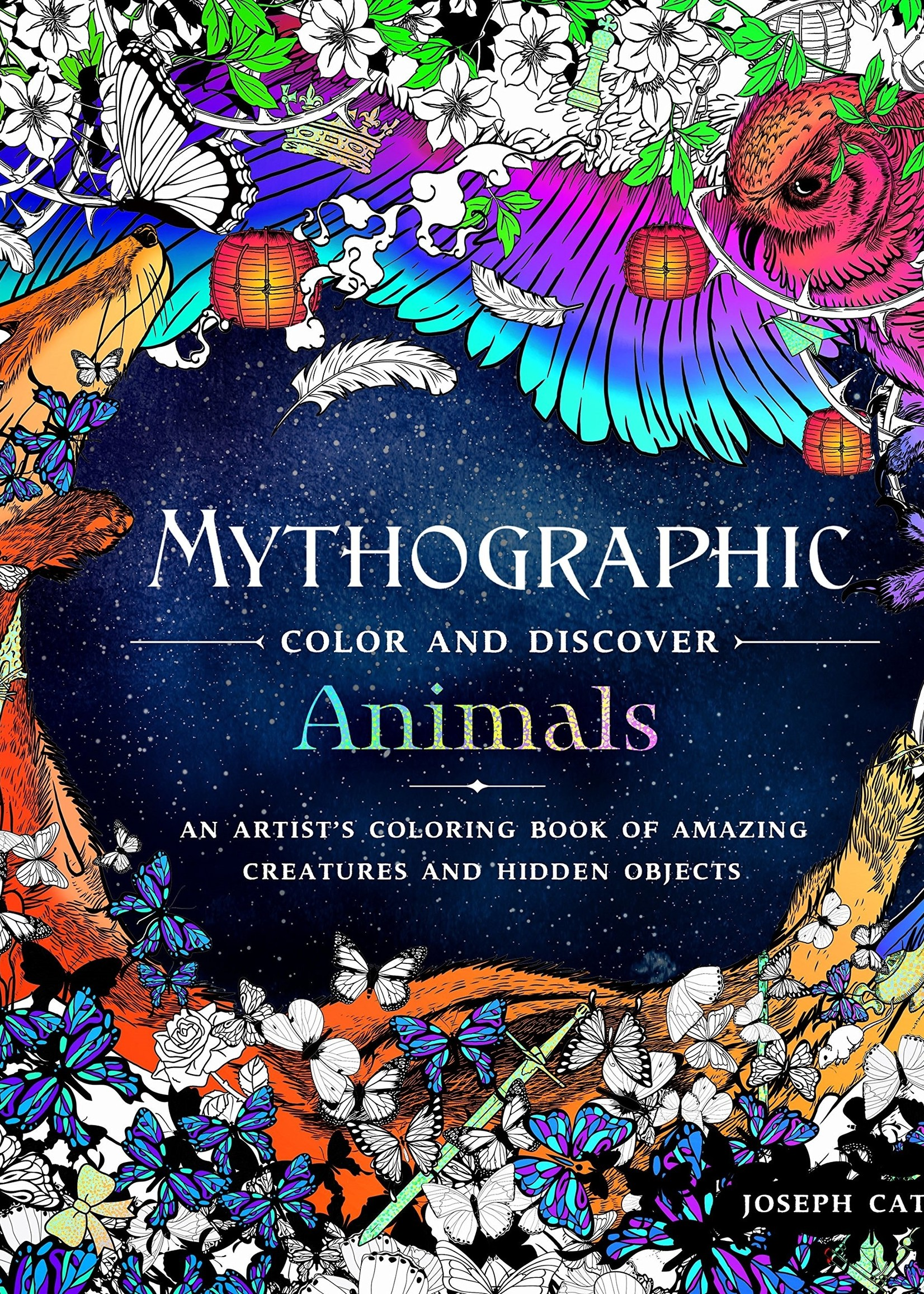 Mythographic Color and Discover: Animals - Paperback
