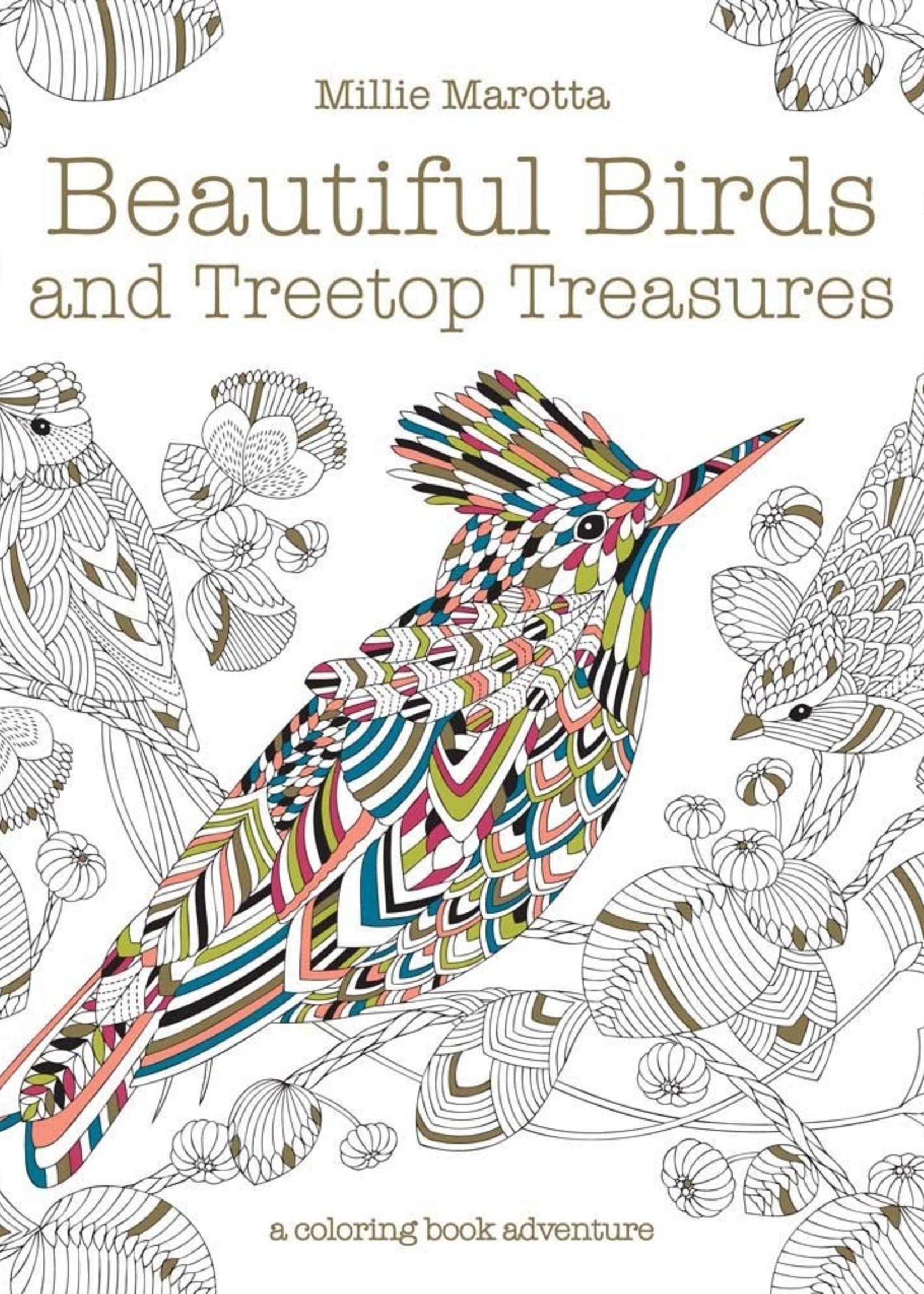Millie Marotta Adult Coloring Book, Beautiful Birds: Mini Edition - Paperback
