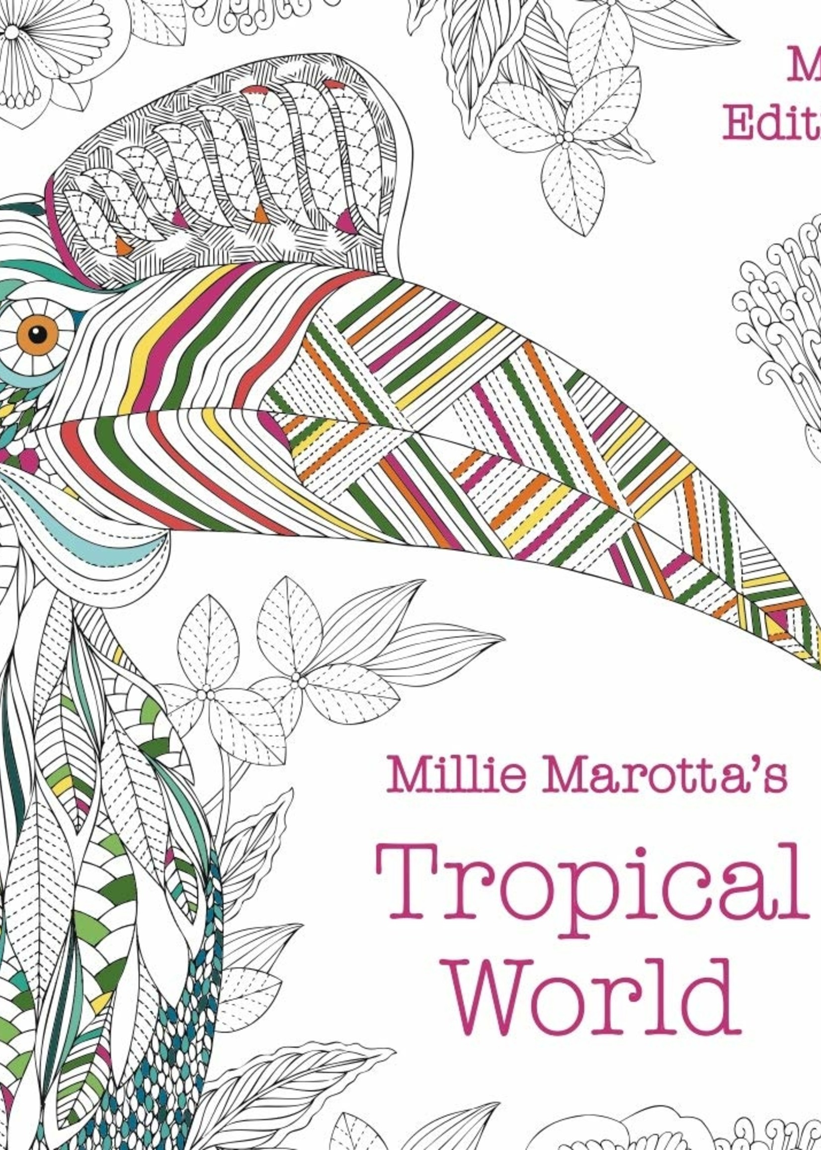 Millie Marotta Adult Coloring Book, Tropical World: Mini Edition - Paperback