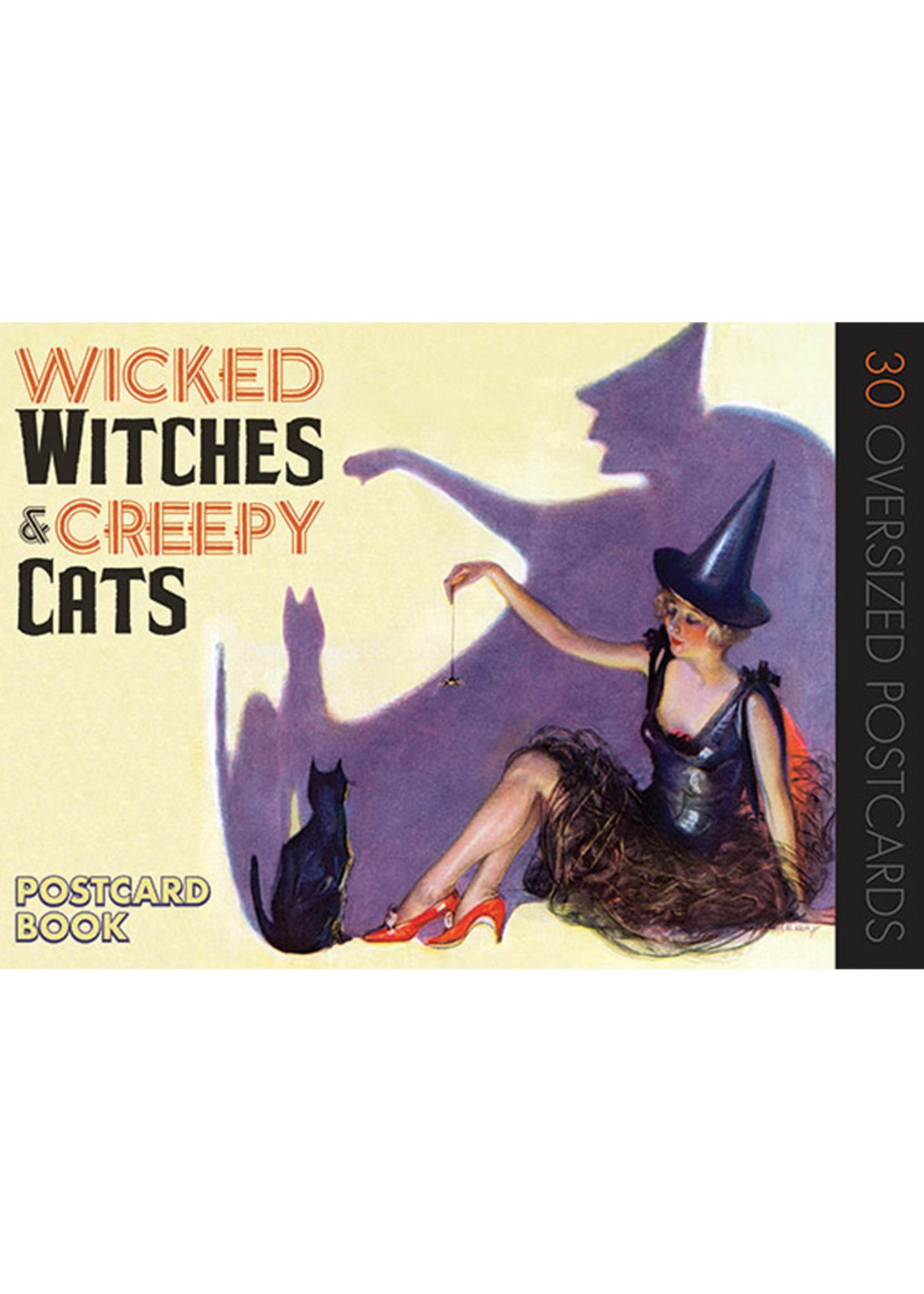 Wicked Witches & Creepy Cats Postcards, Set of 30