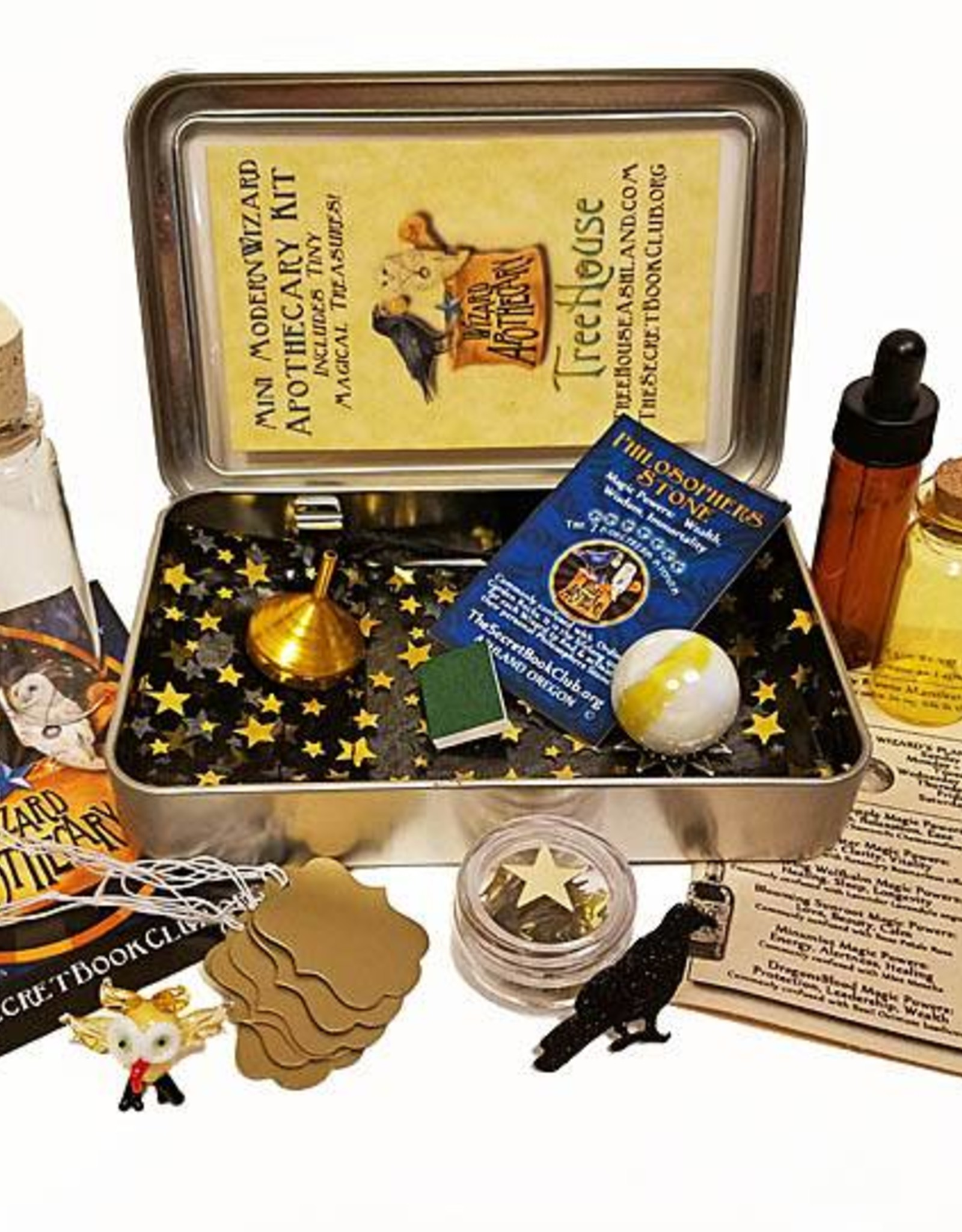 Mini Modern Wizard Apothecary Kit - Tin