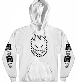 Spitfire Wheels Spitfire Bighead Big Check Pullover Hoodie - White/Black