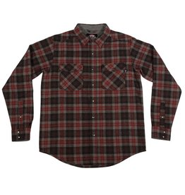Independent Independent Mill Flannel L/S Shirt - Burgundy Plaid
