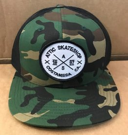 ATTIC ATTIC Trucker Mesh Snapback Hat - Camo/Black
