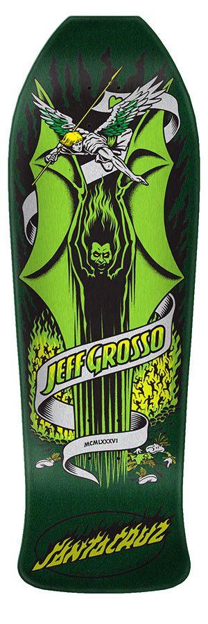 Santa Cruz Skateboards Santa Cruz Jeff Grosso Demon Re-Issue Deck Green 9.98 x 30.07 x 15.25