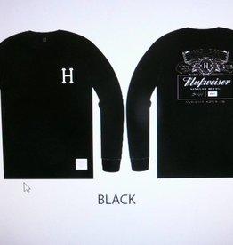 Huf Huf x Budweiser Pit Crew L/S T-Shirt - Black