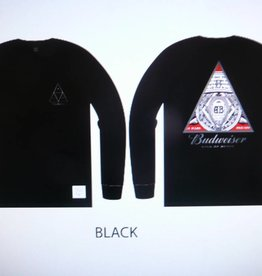 Huf Huf x Budweiser Triangle L/S T-Shirt - Black