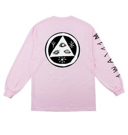 Welcome Skateboards Welcome Skateboards Tali Scrawl L/S T-Shirt - Pink