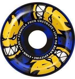 Spitfire Wheels Spitfire F4 Afterburners Conical Full Wheels Black/Blue 54mm 101a (Set of 4)