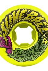 Santa Cruz Skateboards Slime Balls Vomit Mini Wheels Neon Yellow 54mm 97a (set of 4)
