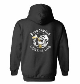 Beer Savage Beer Savage Bone Club Sweatshirt - Black