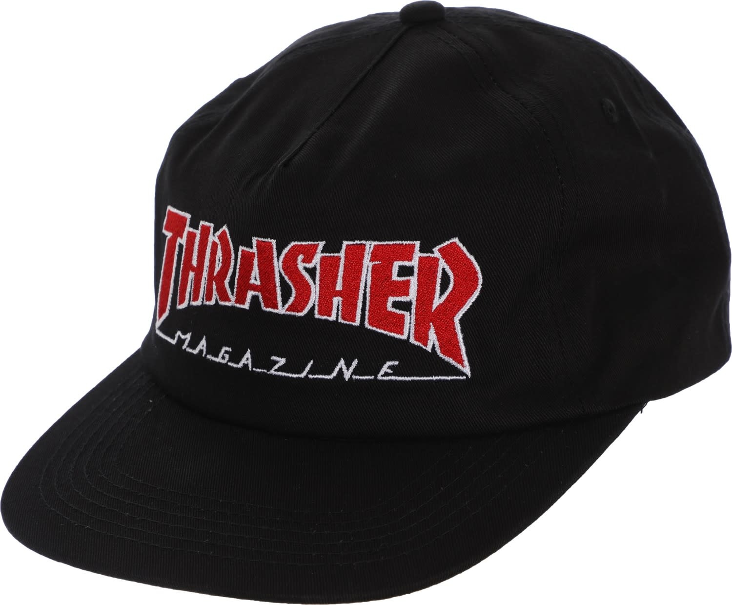 9a85d82a7f7 Thrasher Thrasher Outlined Snapback Hat - Black - Attic Skate   Snow ...