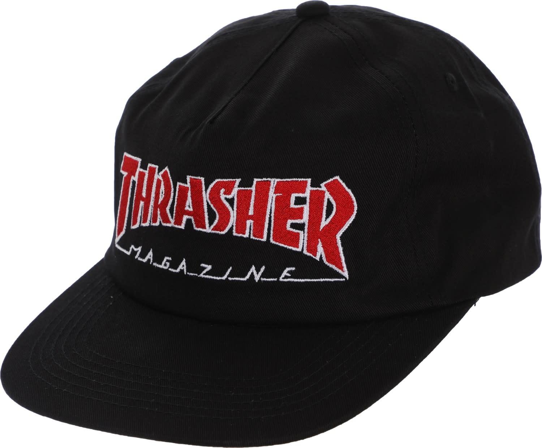 9a85d82a7f7 Thrasher Thrasher Outlined Snapback Hat - Black - Attic Skate   Snow ...