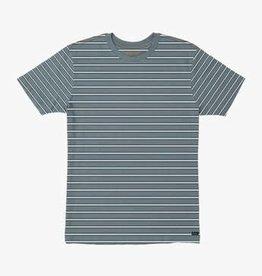 RVCA RVCA Brong Stripe Boys T-Shirt - Blue Slate