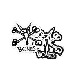 "Bones Bones Vato Stacked 5"" Sticker - Black / White"