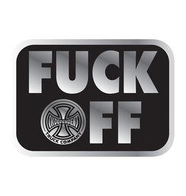 Independent Independent Fuck Off Foil Sticker - Black