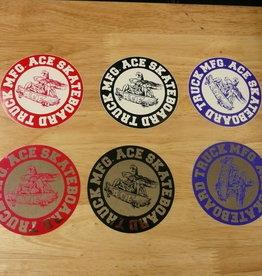 "Ace Trucks Ace Trucks Sticker-Round- 4"""