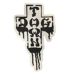 Dogtown Dogtown Cross Logo Drip Sticker - 2""