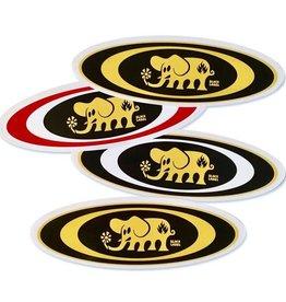 Black Label Black Label Sticker - Oval Elephant - colors vary