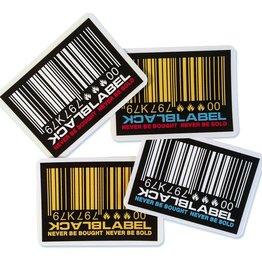 Black Label Black Label Sticker - Barcode - colors vary