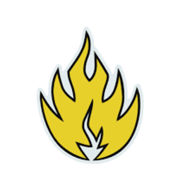 Black Label Black Label Sticker - Flame - colors vary