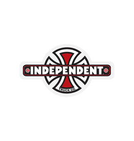 "Independent Independent 4.5"" Vintage Cross Sticker"