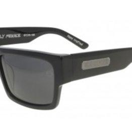 Black Flys Black Flys Fly Menace Sunglasses - Shiny Black Smoke Lens