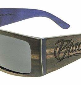 Black Flys Black Flys Wood Fly Detector Sunglasses - Black Wood - Polarized Lens