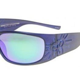 Black Flys Black Flys Sonic Fly 2 Floating Polarized Sunglasses - Matte Blue Smoke Lens