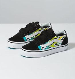 Vans Vans Old Skool V Youth Skate Shoes - Scuba Blue / Black