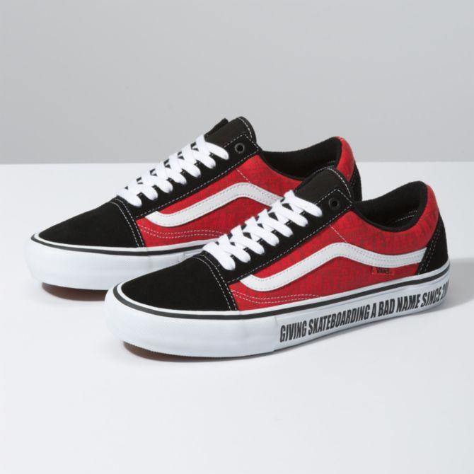 Vans Vans x Baker Old Skool Pro Skate Shoes - Black/White