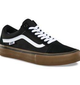 Vans Vans Old Skool Pro Skate Shoes - Black/White/Gum