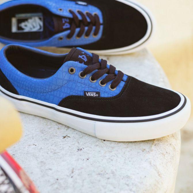Vans Era Pro Zorilla Blue Crocodile Skate Shoes | Zumiez