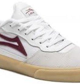 Lakai Lakai Cambridge Men's Skate Shoes - White/Burgundy Leather