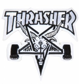 Thrasher Thrasher Skategoat Patch - White/Black