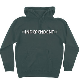 Independent Independent Bar/Cross Hooded P/O Sweatshirt - Alpine Green